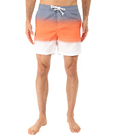 Original Penguin - Engineered Stripe Faux Chambray Print Fixed Volley Shorts