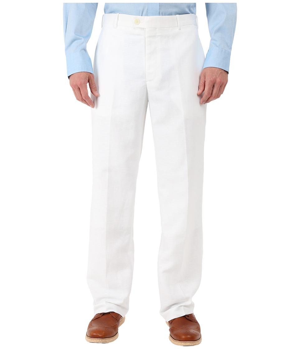 Perry Ellis Portfolio Classic Fit Linen Portfolio Pant Bright White Mens Dress Pants