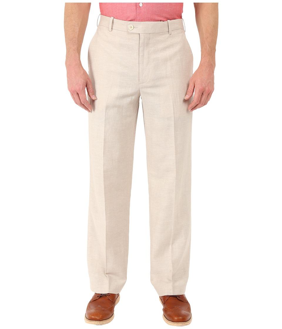 Perry Ellis Portfolio Classic Fit Linen Portfolio Pant Natural Linen Mens Dress Pants