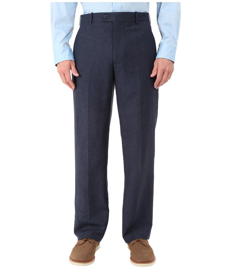 Perry Ellis Portfolio Classic Fit Linen Portfolio Pant Navy Mens Dress Pants