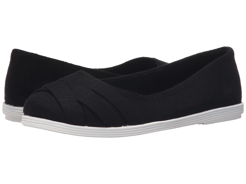 Blowfish Glo Black New Jersey/White Sole Womens Flat Shoes