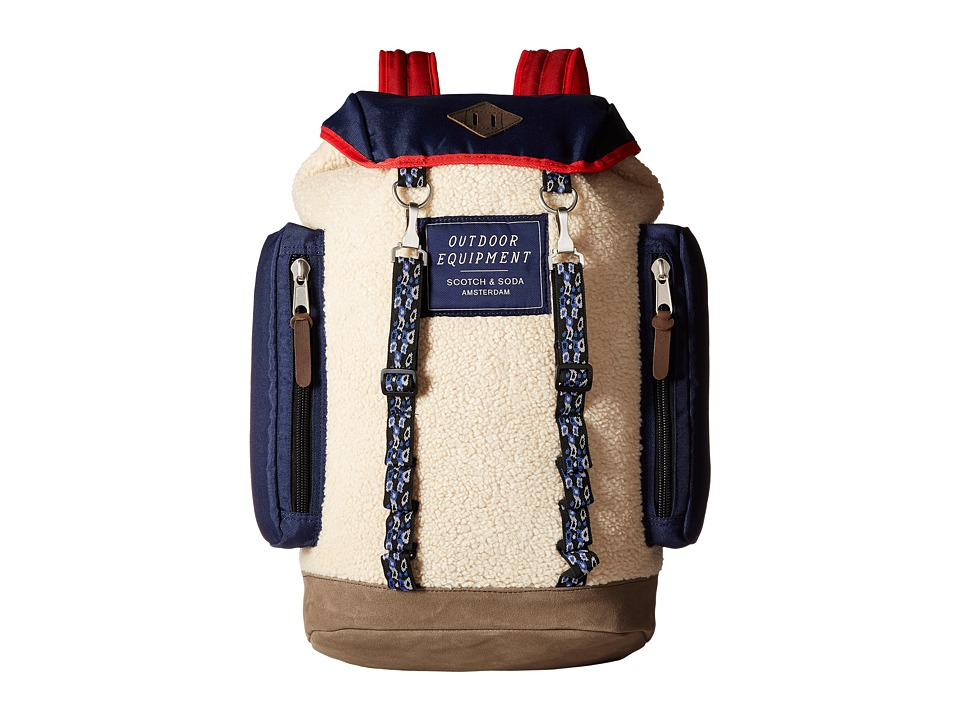 Scotch & Soda - Rucksack in Nylon Quality (18 Navy Teddy) Backpack Bags