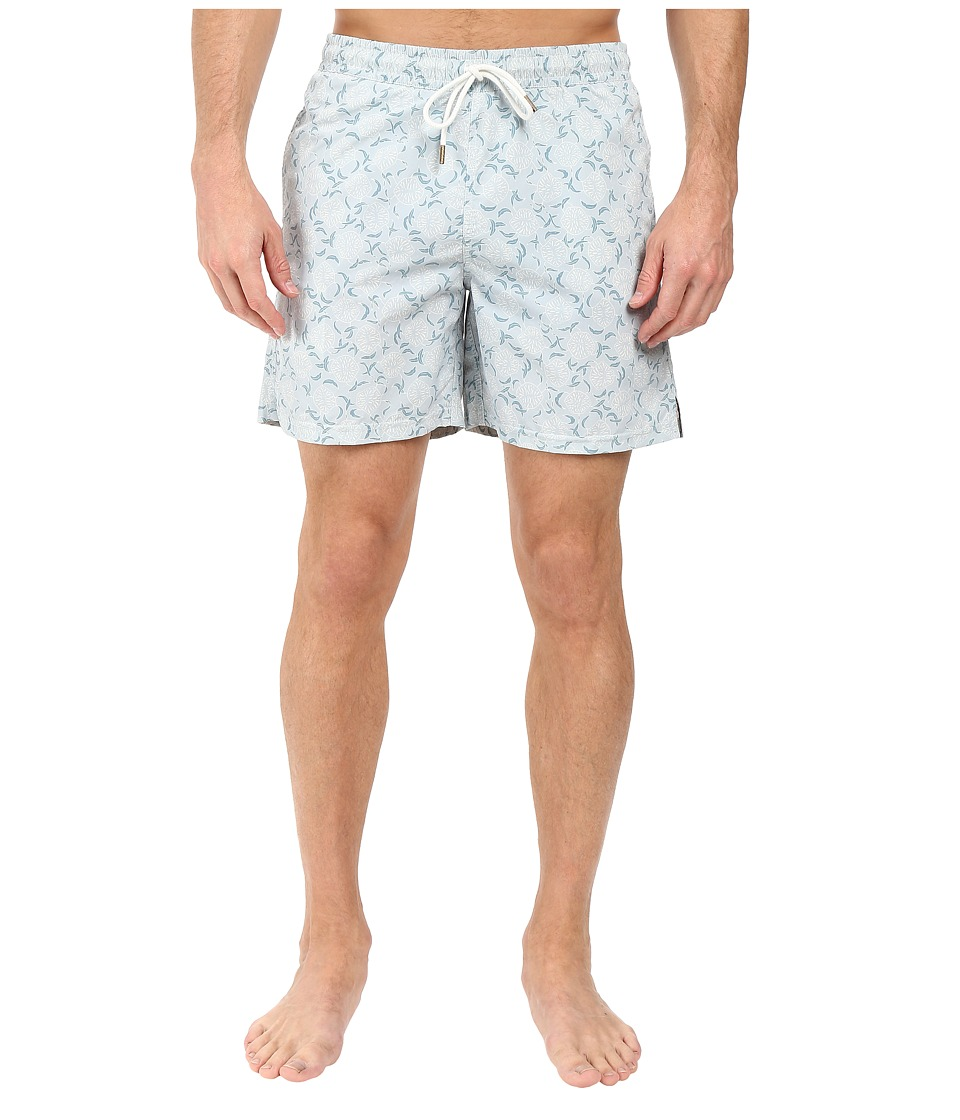 Image of Billy Reid - Bay Swimshorts (Marine) Men's Swimwear