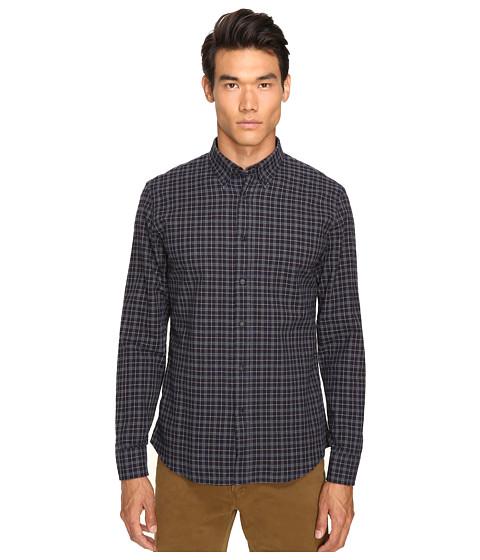 Billy Reid Murphy Shirt - Navy/Tan