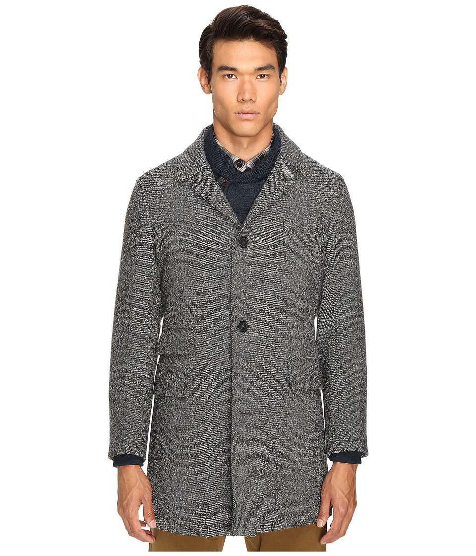 Image of Billy Reid - Astor Lined Coat (Black/Natural) Men's Coat