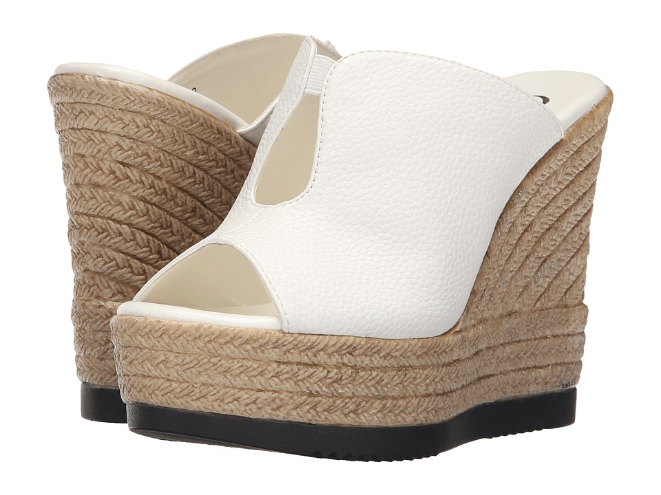 Callisto of California Alessaa White Womens Slide Shoes