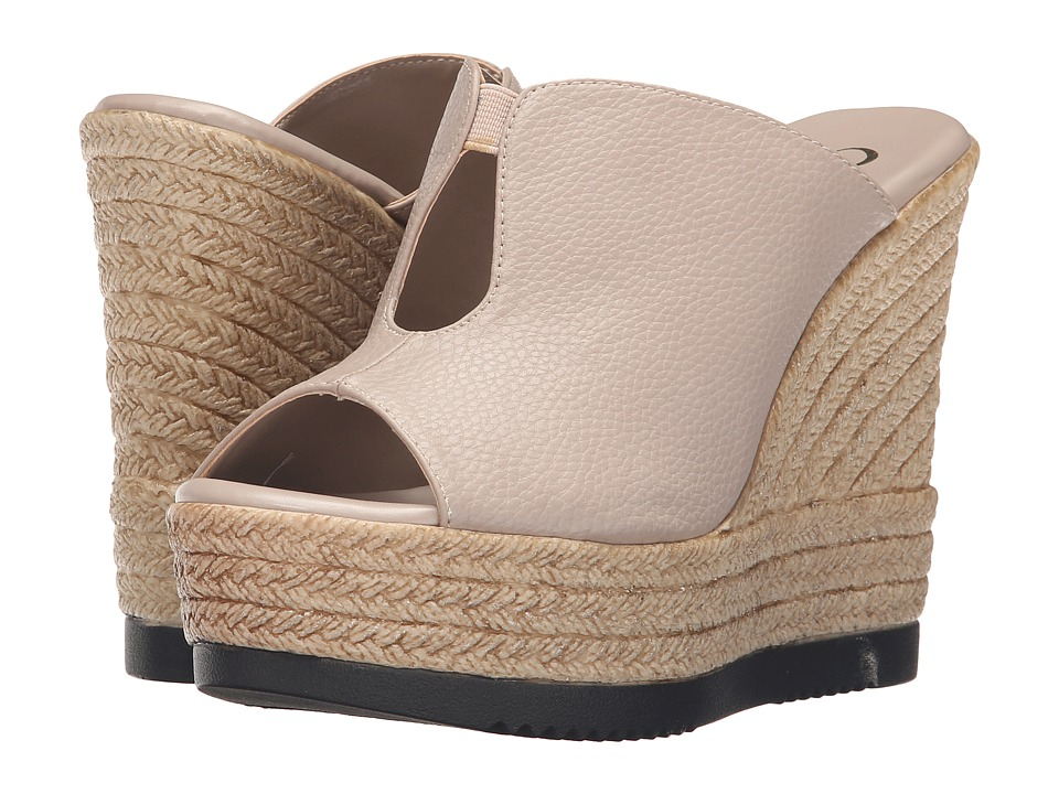Callisto of California Alessaa Taupe Womens Slide Shoes