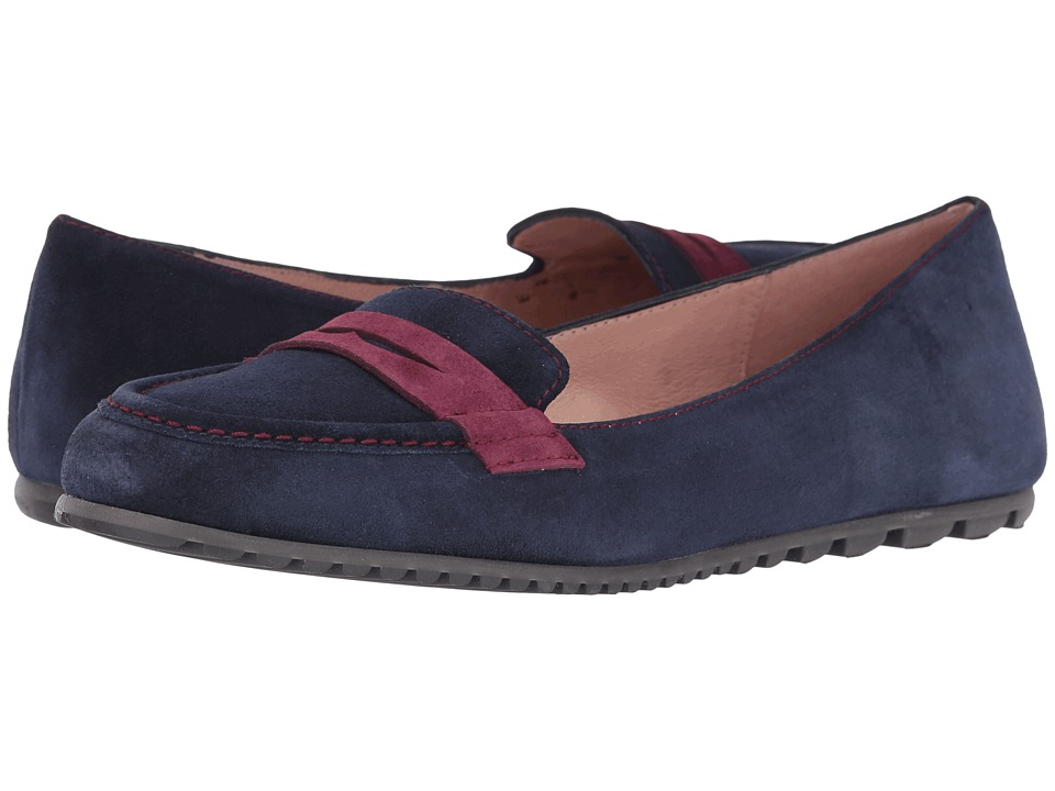 French Sole - Touchstone (Navy/Burgundy Suede) Women