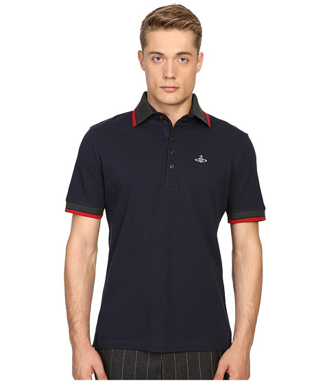 Vivienne Westwood Classic Pique Krall Polo - Navy