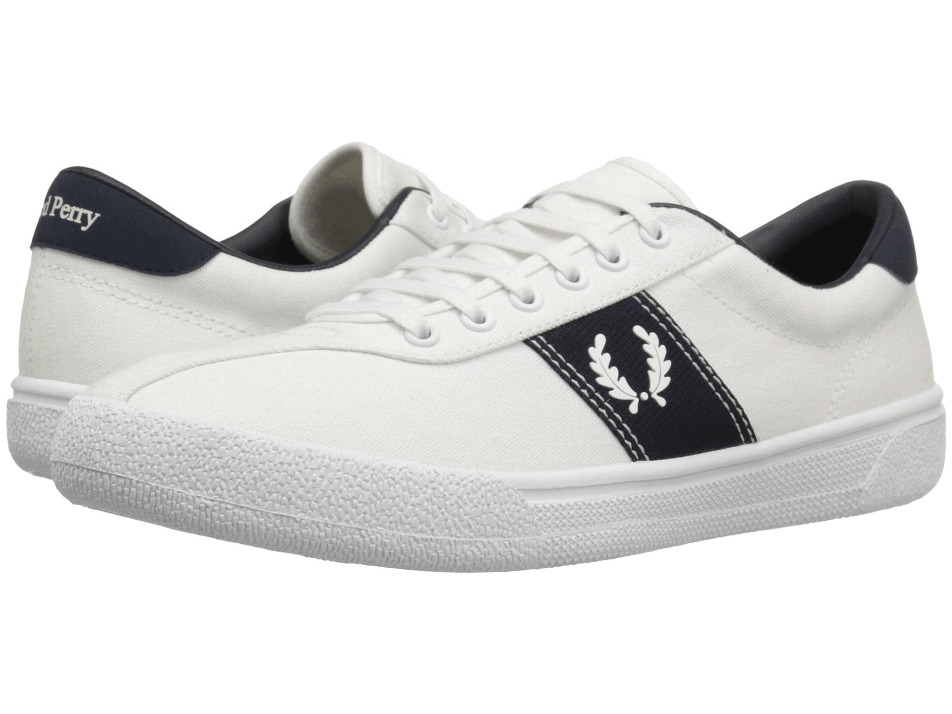 fred perry tennis shoe 1 canvas snow white snow white navy