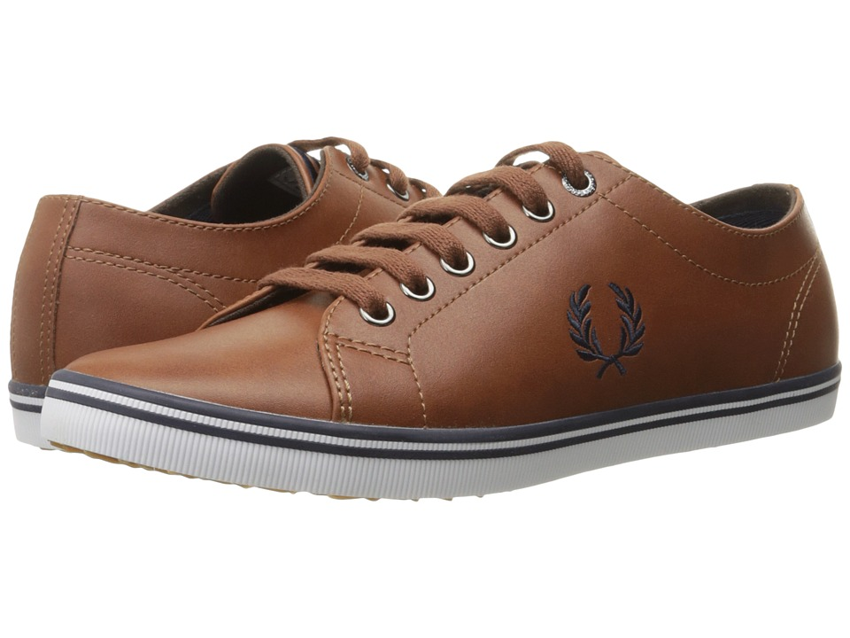 Fred Perry Kingston Leather (Tan/Carbon Blue 1) Men