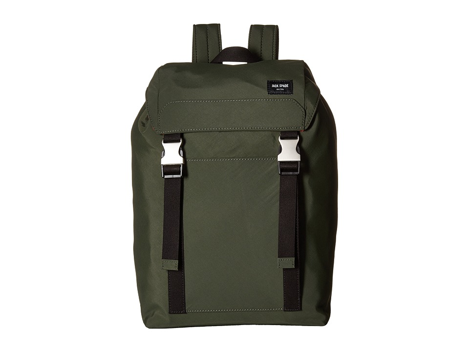 Jack Spade - Tech Travel Army Backpack (Olive) Backpack Bags