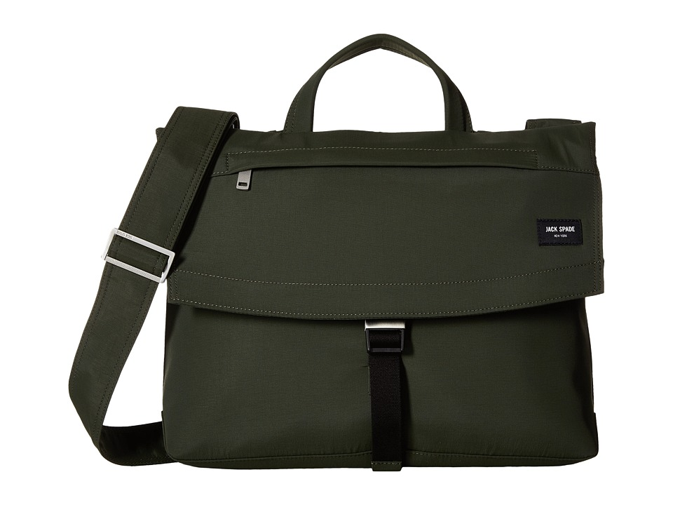 Jack Spade Tech Travel Nylon Folded Messenger (Olive) Messenger Bags