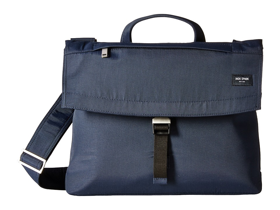Jack Spade Tech Travel Nylon Folded Messenger (Navy) Messenger Bags