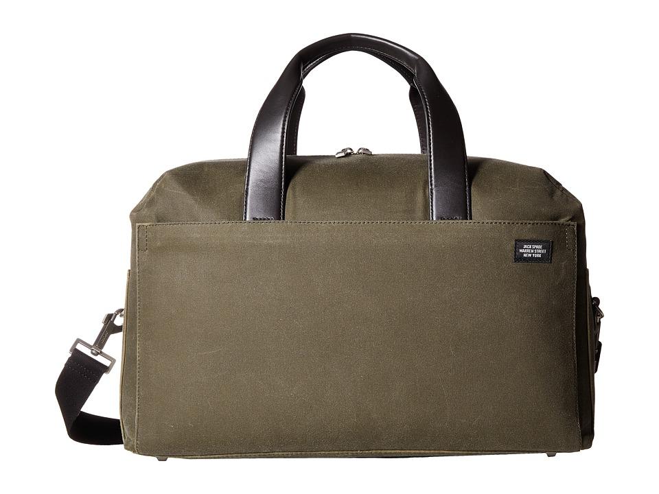 Jack Spade - Waxwear Overnight Bag (Olive) Duffel Bags