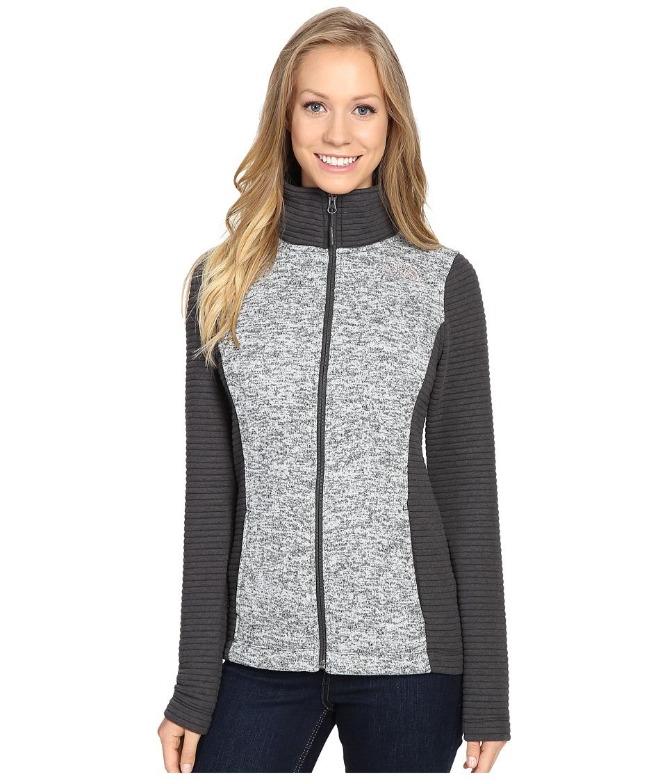 The North Face Indi Full Zip Jacket (Lunar Ice Grey Heather/Asphalt Grey) Women