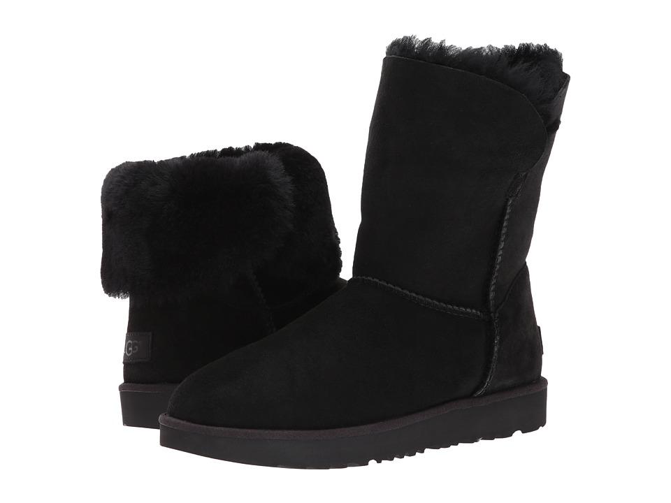 Ugg Classic Cuff Short (Black) Women's Shoes