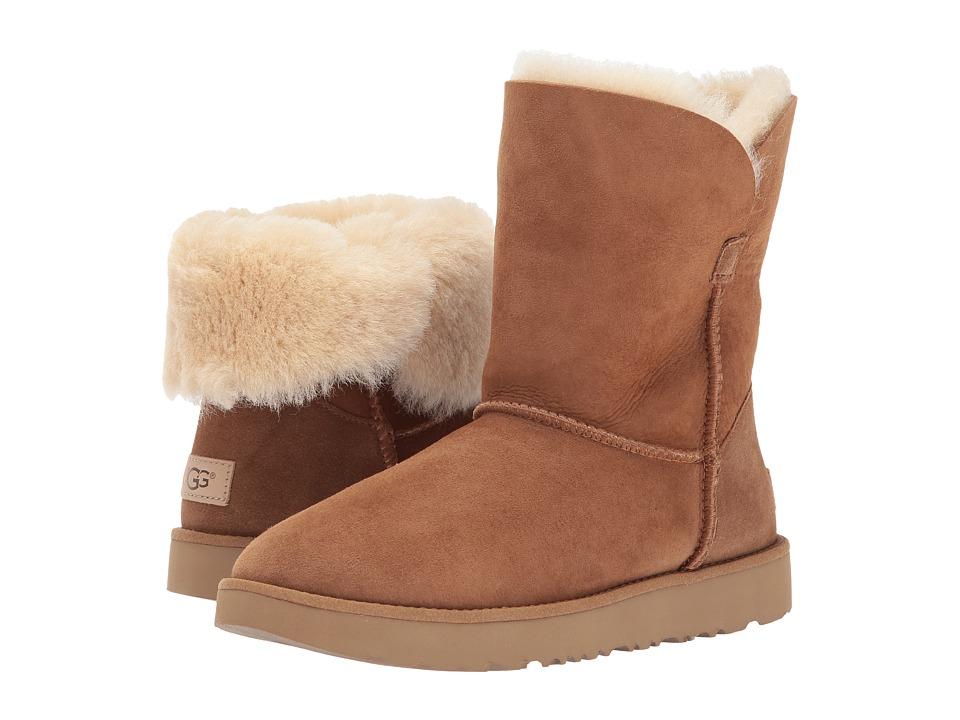 Ugg Classic Cuff Short (Chestnut) Women's Shoes
