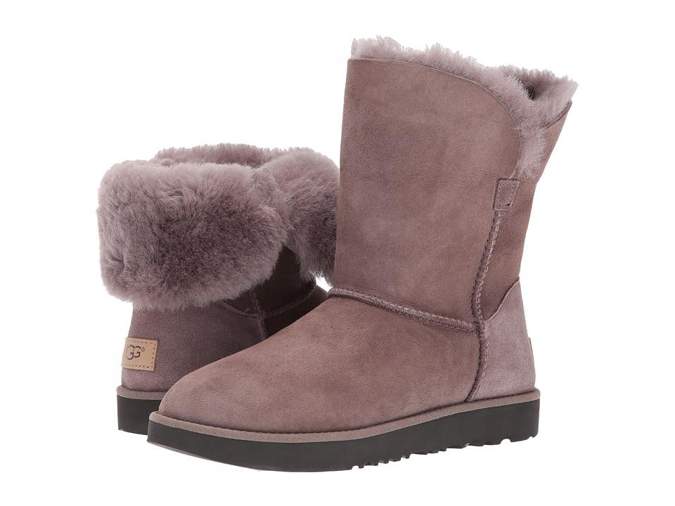 Ugg Classic Cuff Short (Stormy Grey) Women's Shoes