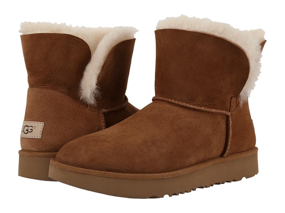 Ugg Classic Cuff Mini (Chestnut) Women's Shoes