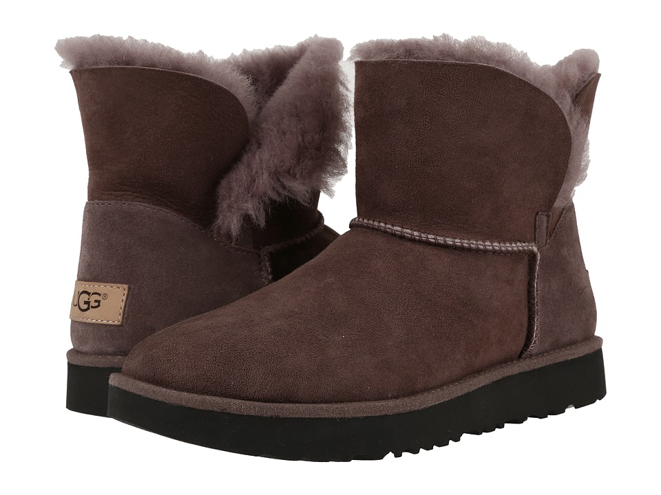 Ugg Classic Cuff Mini (Stormy Grey) Women's Shoes