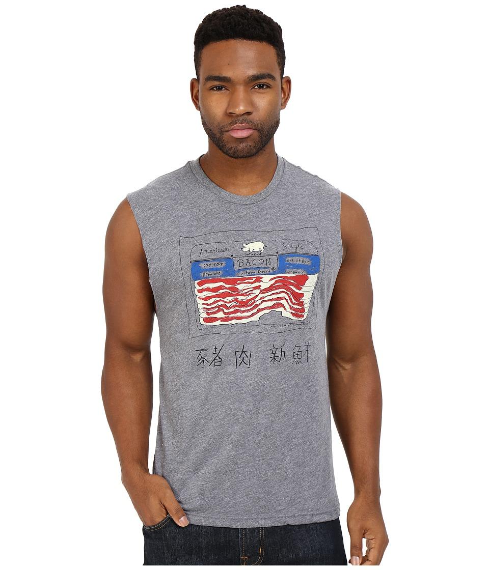 Custom Ketchup Bacon Muscle Tee Grey Mens T Shirt