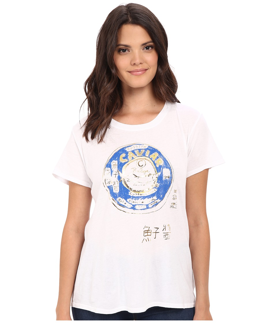 Custom Ketchup Caviar Crew with Foil White Womens Clothing