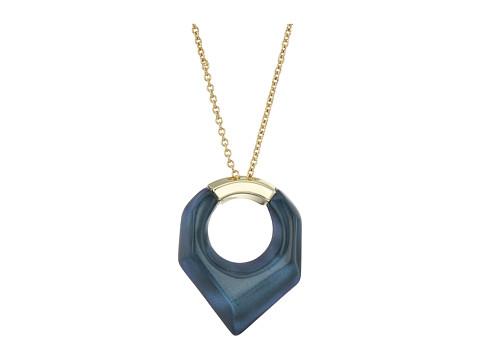 Alexis Bittar Faceted Pentagon Pendant Necklace