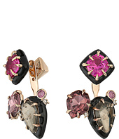 Alexis Bittar - Custom Gemstone Stud w/ Removable Ear Jacket Earrings