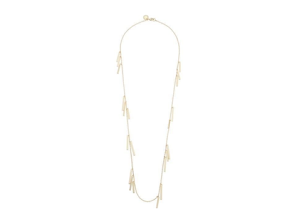 French Connection - Rectangle Bar Fringe Illusion Necklace