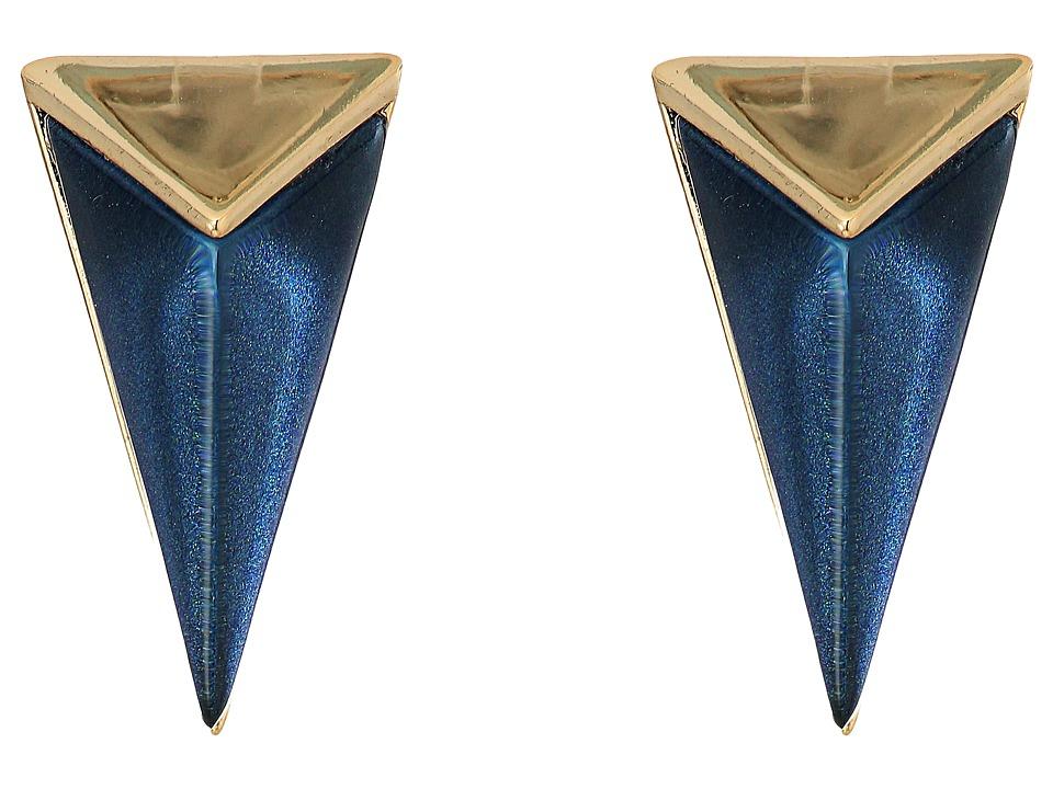 Alexis Bittar - Faceted Pyramid Post Earrings (Blue Velvet) Earring