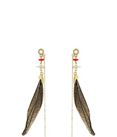 French Connection - Feather Linear Statement Earrings