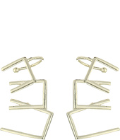 French Connection - Mini Trapeze Overlapping Link Ear Crawler Earrings