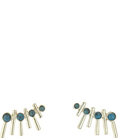 French Connection - Tube & Stone Ear Crawler Earrings