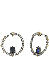 Alexis Bittar - Crystal Encrusted Front Facing Hoop Earrings