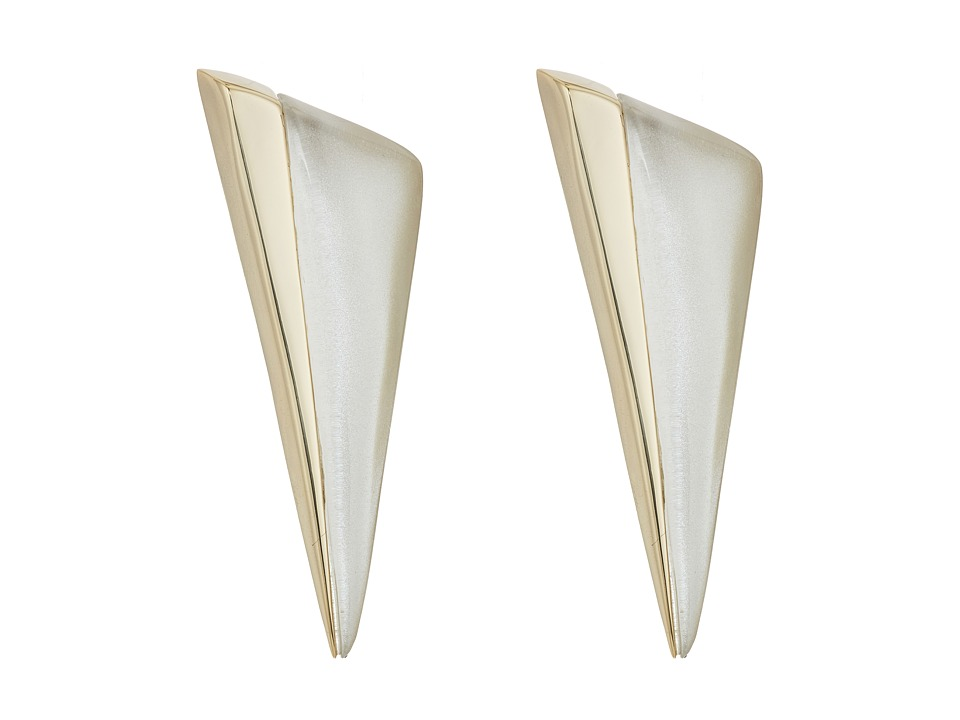Image of Alexis Bittar - Angled Pyramid Post Earrings (Silver) Earring