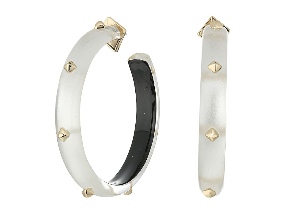 Alexis Bittar - Gold Studded Hoop Earrings (Silver) Earring