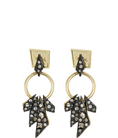 Alexis Bittar - Two-Tone Crystal Encrusted Dangling Origami Post Earrings