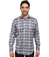 Thomas Dean & Co. - Long Sleeve Woven Grid Plaid