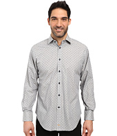 Thomas Dean & Co. - Long Sleeve Woven All Over Dot