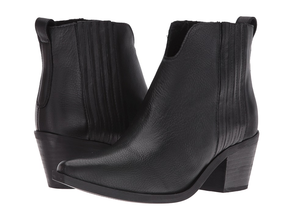 Steve Madden - Webster (Black Leather) Women