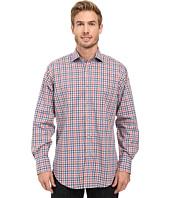 Thomas Dean & Co. - Long Sleeve Woven Shirt Dobby Check