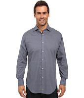 Thomas Dean & Co. - Long Sleeve Woven Shirt Micro Print