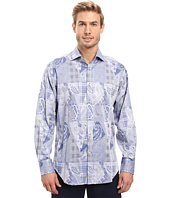 Thomas Dean & Co. - Long Sleeve Woven Paisley Jacquard