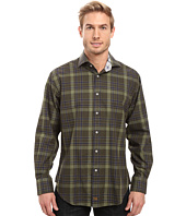 Thomas Dean & Co. - Long Sleeve Woven Twill Plaid