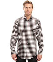 Thomas Dean & Co. - Long Sleeve Woven Shadow Check