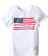 The Original Retro Brand Kids - Vintage Cotton Short Sleeve American Flag Tee (Little Kids/Big Kids)