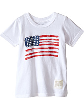 The Original Retro Brand Kids - Vintage Cotton Short Sleeve American Flag Tee (Toddler)