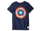 The Original Retro Brand Kids Captain America Tri-Blend Tee (Little Kids/Big Kids)