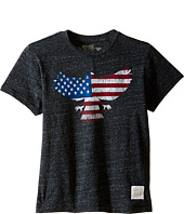 The Original Retro Brand Kids - Tri-Blend Short Sleeve American Eagle Tee (Little Kids/Big Kids)